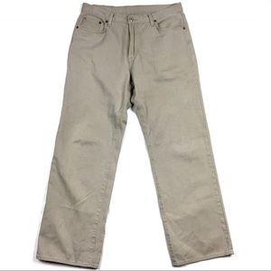 Lucky Brand Khaki Classic Fit Straight Leg Jeans